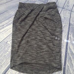 Lululemon &go Where-to Heathered Black Skirt, 4